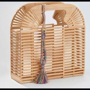 Cute Bamboo clutch w/ tassel
